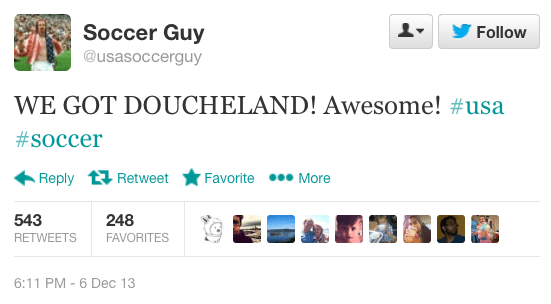 Tweet by @usasoccerguy
