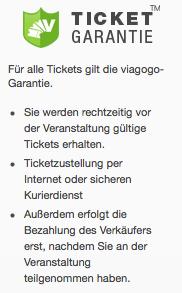 Viagogo Ticketgarantie