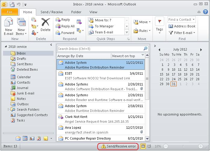 Steps to Fix Send/Receive Error in MS Outlook or Outlook Express