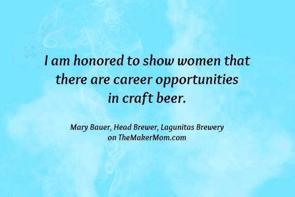 Chicago Star Mary Bauer, Head Brewer at Lagunitas Brewery