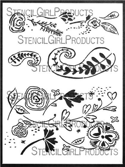 Boho Patterns Stencil Cathy Nichols StencilGirl Products