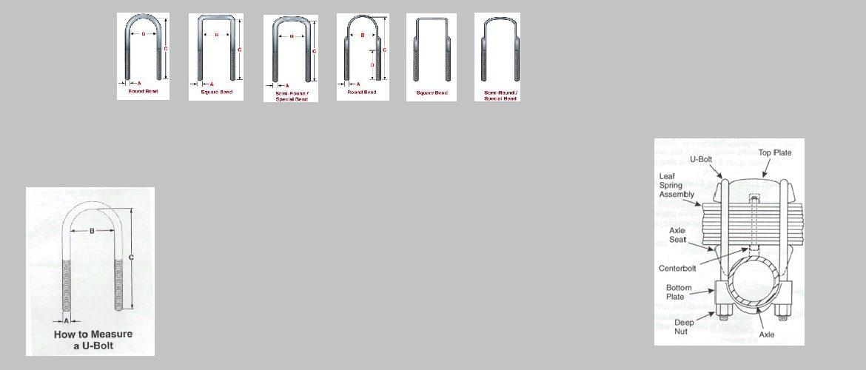 u bolts sizes chart - Mersnproforum