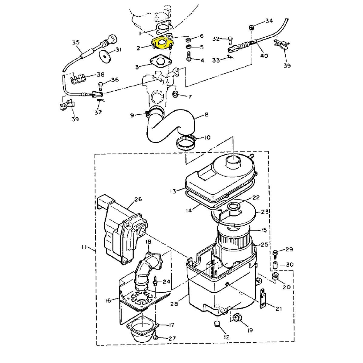 Ybr 125 Engine Diagram Auto Parts Catalog And 97 Rt100 Carb Yamaha 2stroke Thumpertalk Fuse Box