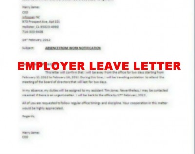 Leave application letter to my boss Custom paper Academic Writing