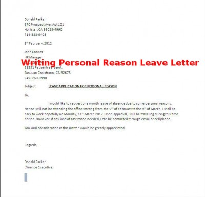 How To Write A Leave Letter To Teacher Images - Letter Format Formal - how to write an leave application