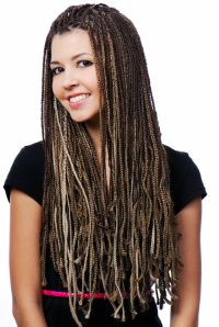 White With Black Hair Braids Extensions   micro braid your ...