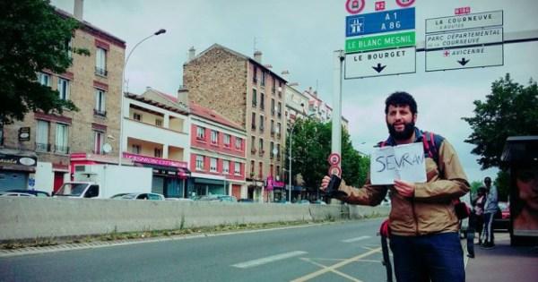 Wael Sghaier a sillonné les routes du 93 pendant un mois et une semaine (W. SGHAIER).