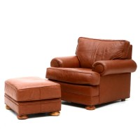 Furniture: Alluring Leather Chair And Ottoman For Cozy ...