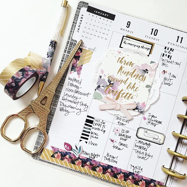 #planner spread // via stephanie howell