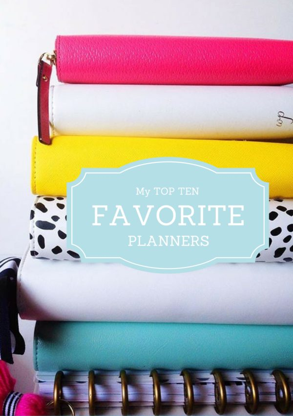 My Favorite #Planners // via Stephanie Howell