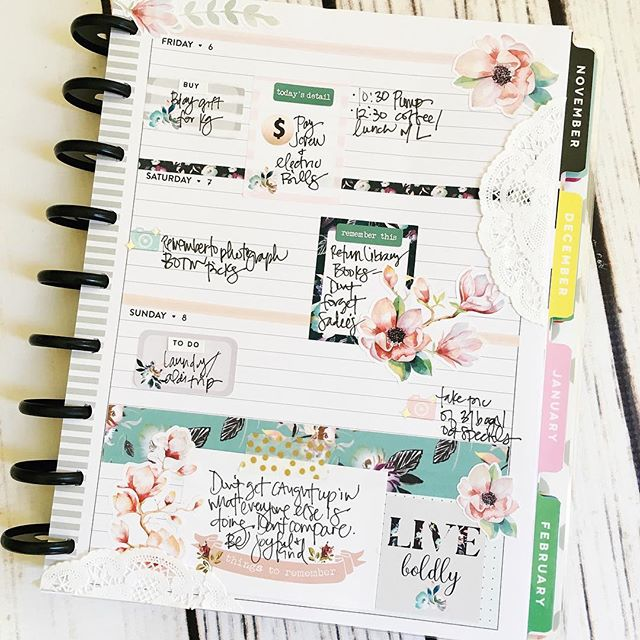 #planner spread // via Stephanie Howell #happyplanner #thehappyplanner