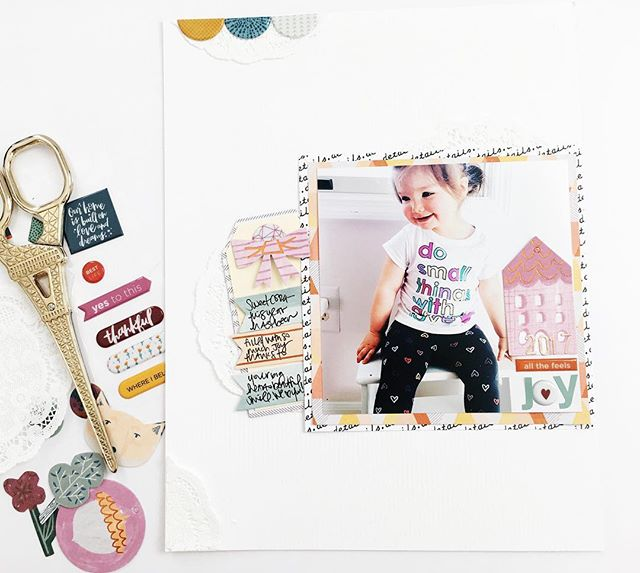 Joy Layout // via StephanieHowell.com