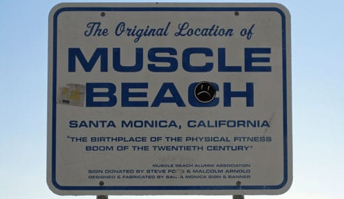 Pulling A Muscle At Muscle Beach Santa Monica