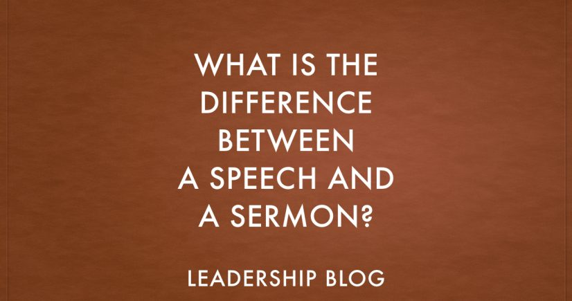 What is the Difference Between a Speech and a Sermon? - Stephen J