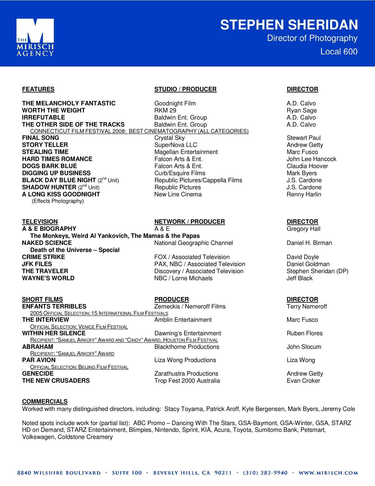 resume Film Director Resume film director resume ideas beautiful pictures simple office