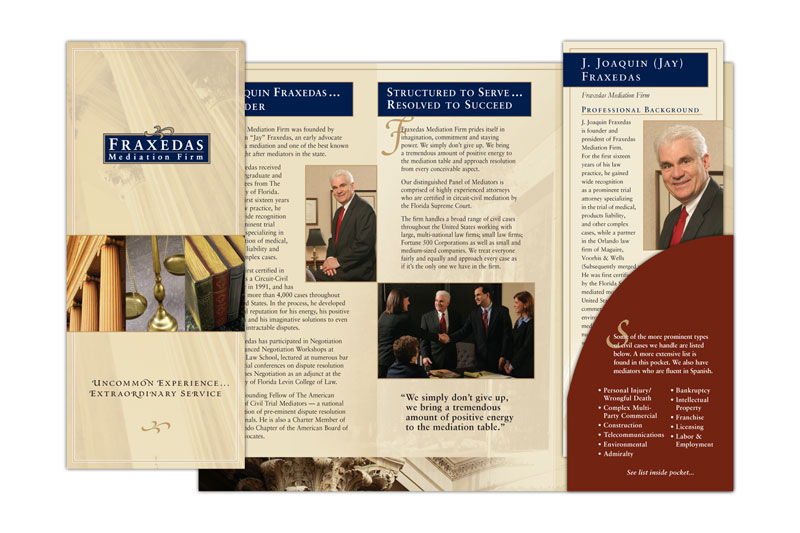 Stephenson Marketing Fraxedas Mediation Firm Brochure - Sample Marketing Brochure