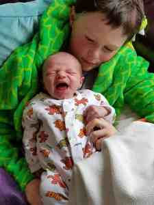 My good baby cries