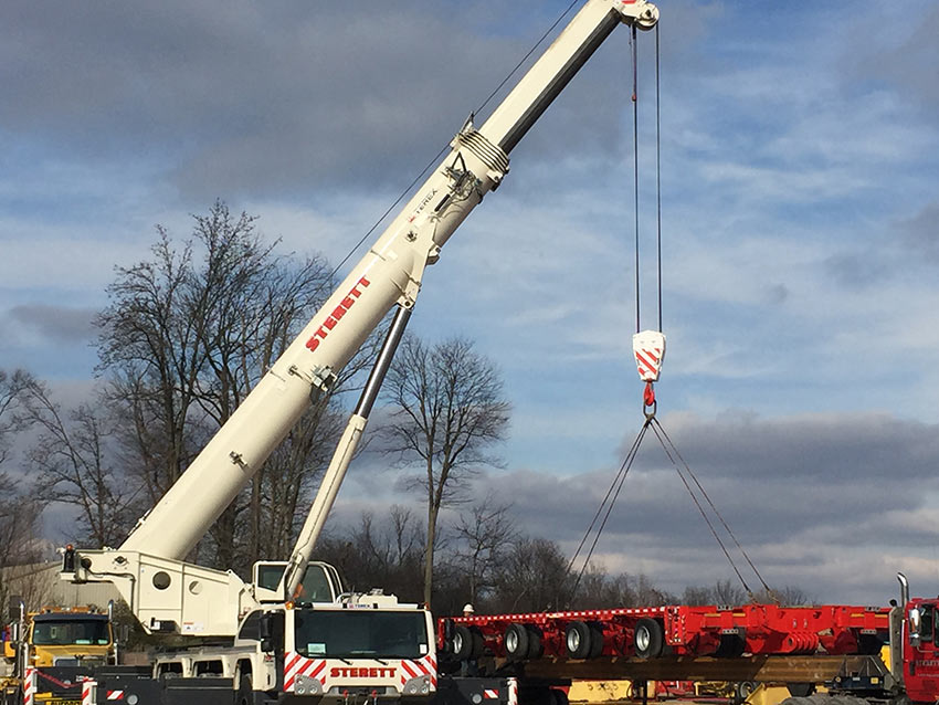 Sterett Crane\u0027s New Terex Explorer 5800 Sterett Crane Rental