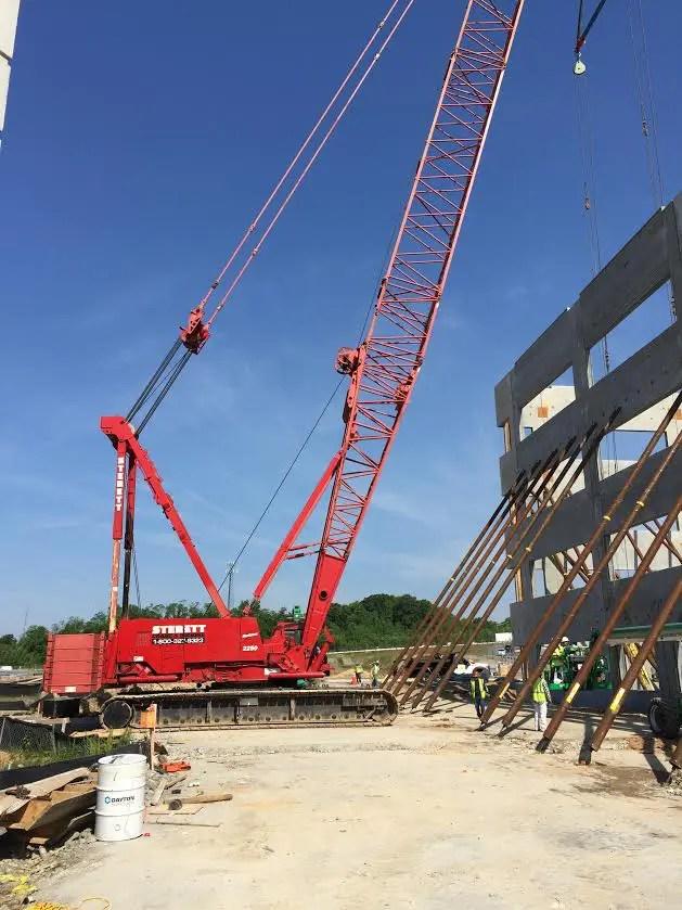 Tilt Wall Panel Job in Annapolis, Maryland Sterett Crane Rental