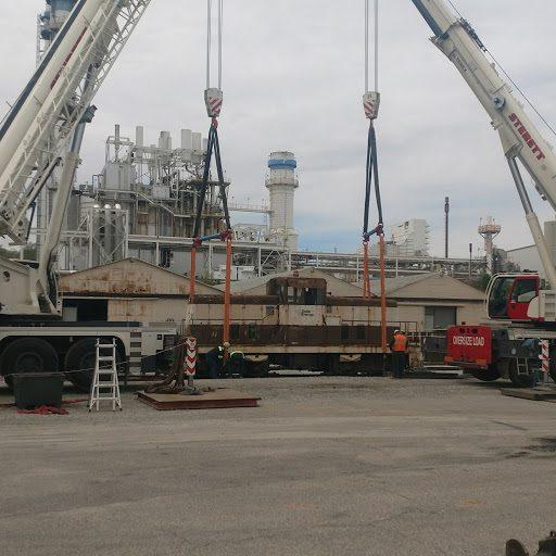 Locomotive Move in Edwardsport, Indiana Sterett Crane Rental
