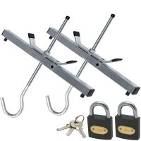 BWT Heavy Duty Roof Rack Ladder Clamps with 2 x Padlocks