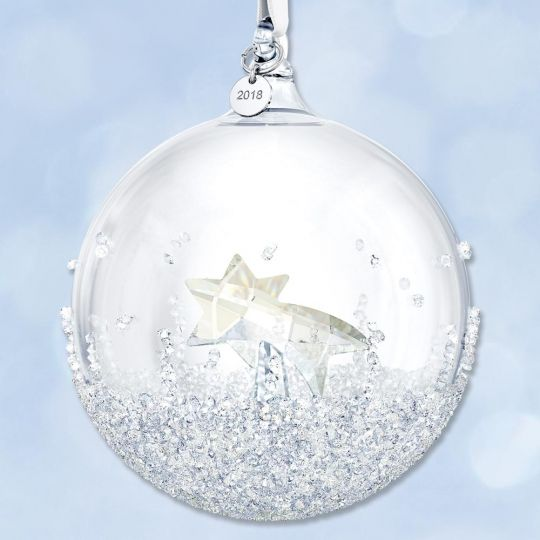 2018 Swarovski Annual Christmas Ball Crystal Ornament Sterling