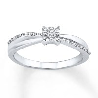 Promise Ring Diamond Accent Sterling Silver - 58011550199 ...
