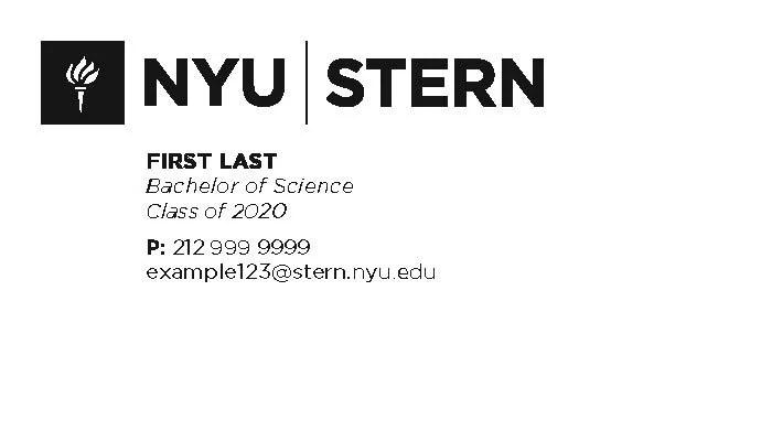 Business Cards - NYU Stern