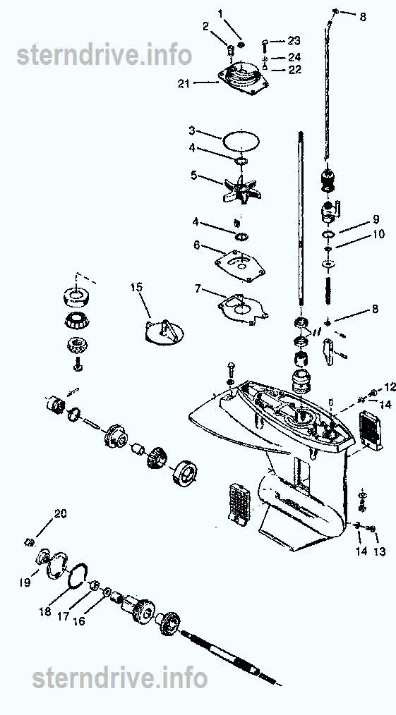 15 hp mercury outboard parts diagram