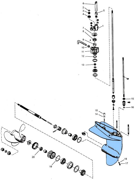 mercury outboard lower unit diagram on 7 5 mercury outboard lower