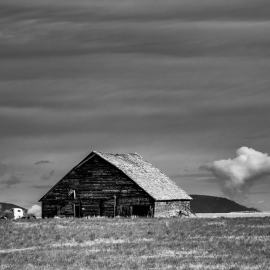 Old Barn and Truck, B Road NW, Douglas County, Washington, 2013