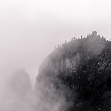 Photography Project: Foggy Alpine Landscapes, Mount Rainier National Park, Washington, 2014
