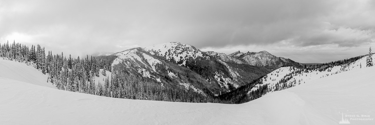 Winter Panorama, Hurricane Ridge, Olympic National Park, Washington, 2016