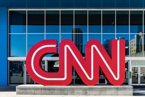 DOWNTOWN, ATLANTA, GEORGIA, UNITED STATES - 2015/11/14: CNN World Headquarters. (Photo by John Greim/LightRocket via Getty Images)