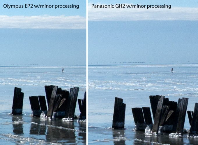 What happens when I try to make the color of the GH2 match the EP2? Click for full size...