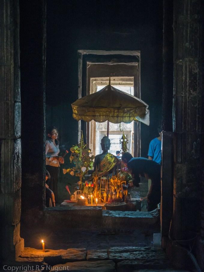 Interior of Bayon Temple at Angkor Thom