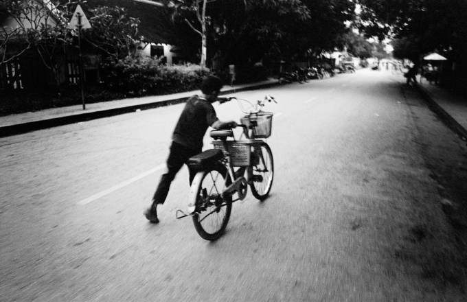 Bike Luang Prabang Leica M6 Nokton Tri-X ISO800
