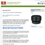 Nikon 32 1.2 1 series lens now Special Order Only?