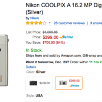 Nikon Coolpix A Deal now at Amazon (Prime) - $700 OFF