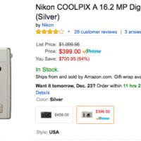 Nikon Coolpix A Deal now at Amazon (Prime) - $700 OFF