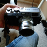 The Fuji X100 and the Fuji WCL-X100 Wide Angle converter lens. The X100 can now sport a 28mm f/2!