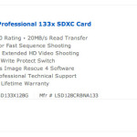 Crazy deal on a 128Gb Lexar SD Card - $89.95 special!