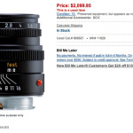 Lazy Sunday used deals! Well, some are deals! Leica, Olympus, Fuji, Nikon and more!
