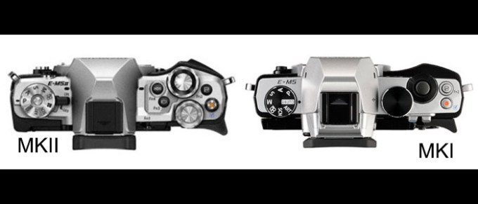 E-M5II-vs-E-M5-top-size-comparison-700x263