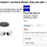 New Zeiss ZM 35 1.4 Distagon Leica M Mount lens IN STOCK!