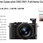 """Want your own """"hands on"""" with the Sony RX1? You CAN on November 20th!"""