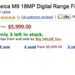 Further price slash on Leica M9 and M9-P...up to $1500 off...