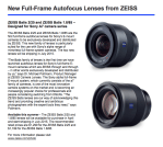 Pre-Order the new Zeiss Batis Lenses at B&H Photo!