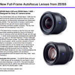 New ZEISS Batis 2/25 and ZEISS Batis 1.8/85 –  For Sony A7 Series