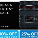 Black Friday Mania Begins! 1st up.. Lens Rentals used lenses 10% off plus 5% back!